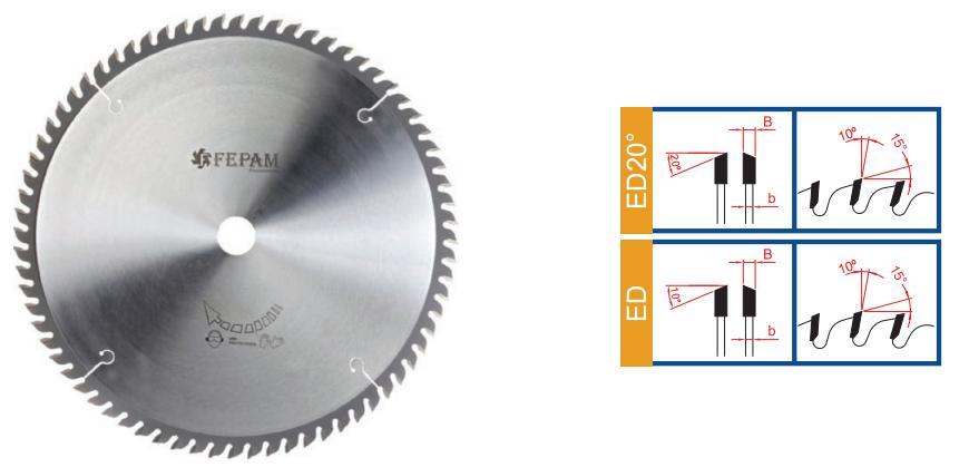 SERRA CIRCULAR HM PARA CORTE TRANSVERSAL Ø 250 mm 60 Dentes 3,2/2,2 ED 30mm Mod SW0652504