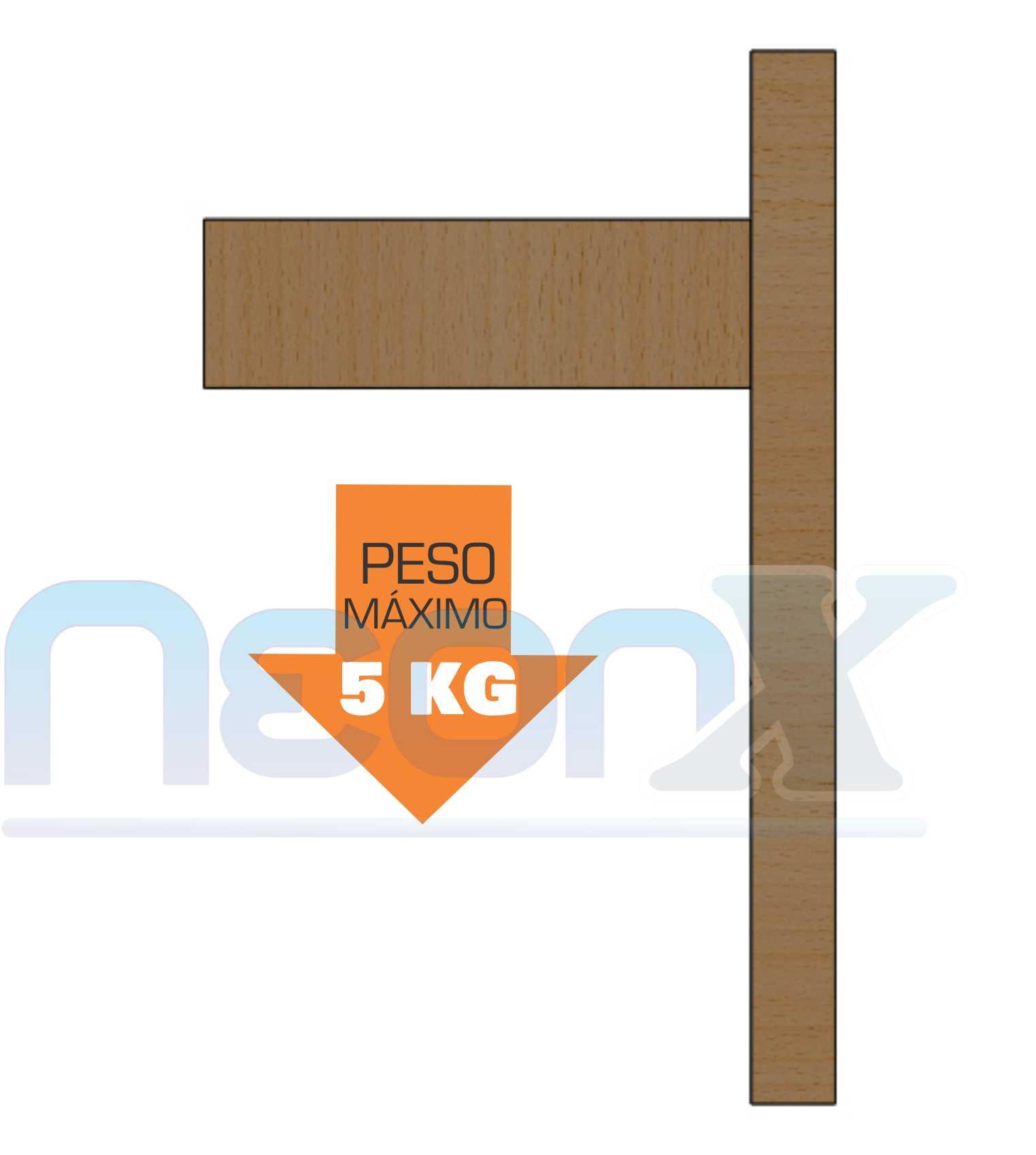 Suporte Mão Francesa De Madeira Para Prateleira, Arandela, Vasos 25x15 cm 5kg NeonX