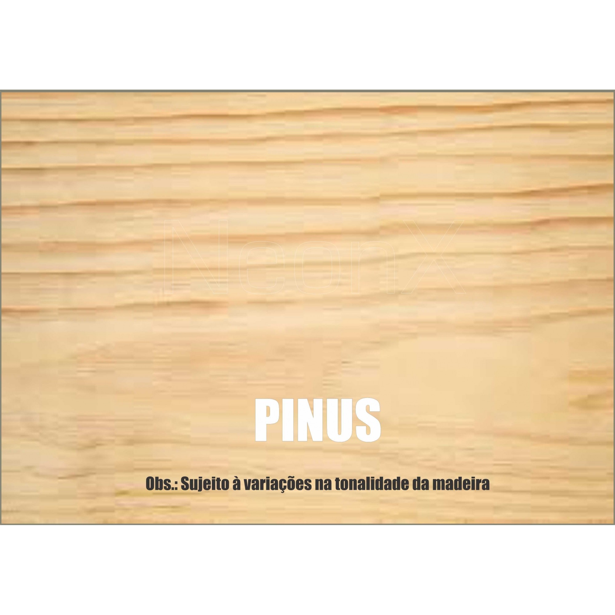 Tábua de Madeira 10x2x100 cm Acabamento Aplainado NeonX