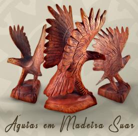 esculturas de Águias em madeira suar