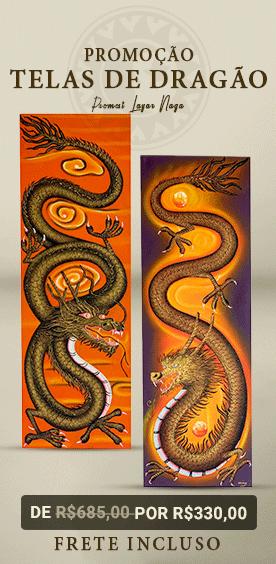 promoção pinturas em tela - dragão