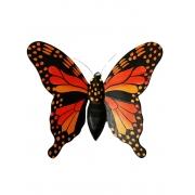 Borboleta p/ Parede - Laranja ( 17cm )