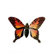 Borboleta p/ Parede - Laranja ( 27cm )
