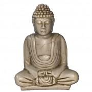 Buda Sidartha em Resina Marfim (Meditando)  ( 12 cm )