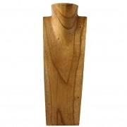 Busto Porta Colar em Madeira ( 40cm )