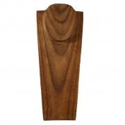 Busto Porta Colar em Madeira Escura ( 40cm )