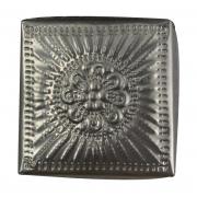 Caixa Quadrada em Alumínio c/ Detalhes em Alto-Relevo ( 12cm )