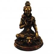 Escultura Shiva em Resina (Dourado) - ( 14cm )