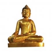 Escultura Buda Sidartha em Resina Dourada ( 25cm )