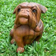 Escultura Buldogue Sentado ( 16 cm )