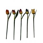 Escultura Flor de Tulipa com Pintura Envelhecida ( 45 cm ) Aberta *PROMOÇÃO: 03 POR R$30*