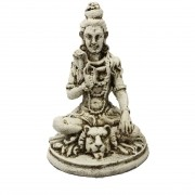Escultura Shiva em Resina (Branco) - ( 14cm )