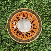 Espelho em Mosaico - Sol em Mosaico Refletivo com Borda em MDF - [20/30/40]