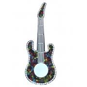 Espelho em Mosaico - Guitarra ( Colorido ) ( 80cm )