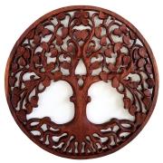 [FRETE GRÁTIS] Mandala Árvore da Vida em Madeira Suar ( 60cm )