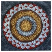 [FRETE GRÁTIS] Pintura em Tela - Mandala em Alto Relevo ( 70x70 cm )