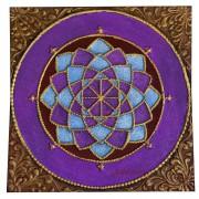 Pintura em Tela - Mandala em Alto Relevo ( 70x70 cm )
