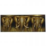 ( FRETE INCLUSO ) Pintura em Tela - Elefante (45x120cm)