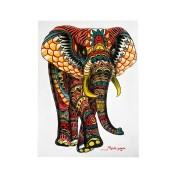 Pintura em Tela - Elefante Estilizado Colorido (60x80) - ( FRETE INCLUSO )