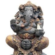 Ganesha em Resina com Cimento (35x50x80cm)