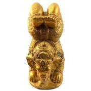 Ganesha (Yoga) em Resina - 25cm - Dourado