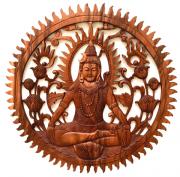 [FRETE INCLUSO] Mandala Shiva em Madeira Suar ( 100cm )