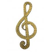 Mosaico - Nota Musical ( Dourado ) ( 50cm )