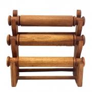 Porta Pulseiras em Madeira Suar ( 3 Suportes )