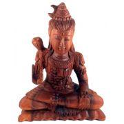 [DESTAQUE] Escultura Shiva em Madeira Suar ( 12x21x8 cm )