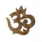 Símbolo de Om em Madeira Suar ( 20 cm )