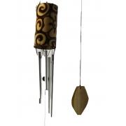 Sino Metal & Bambu - Flor - Mensageiro do Vento ( 80cm )