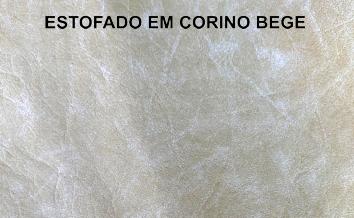 ( Peça Única c/ Frete Incluso ) - Banco FLoral em Madeira Teca e Corino Bege - Acabamento em Pátina - 200x90x99cm