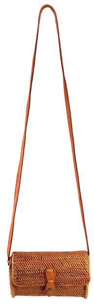 Bolsa Tiracolo Tradicional em Rattan (20cm)