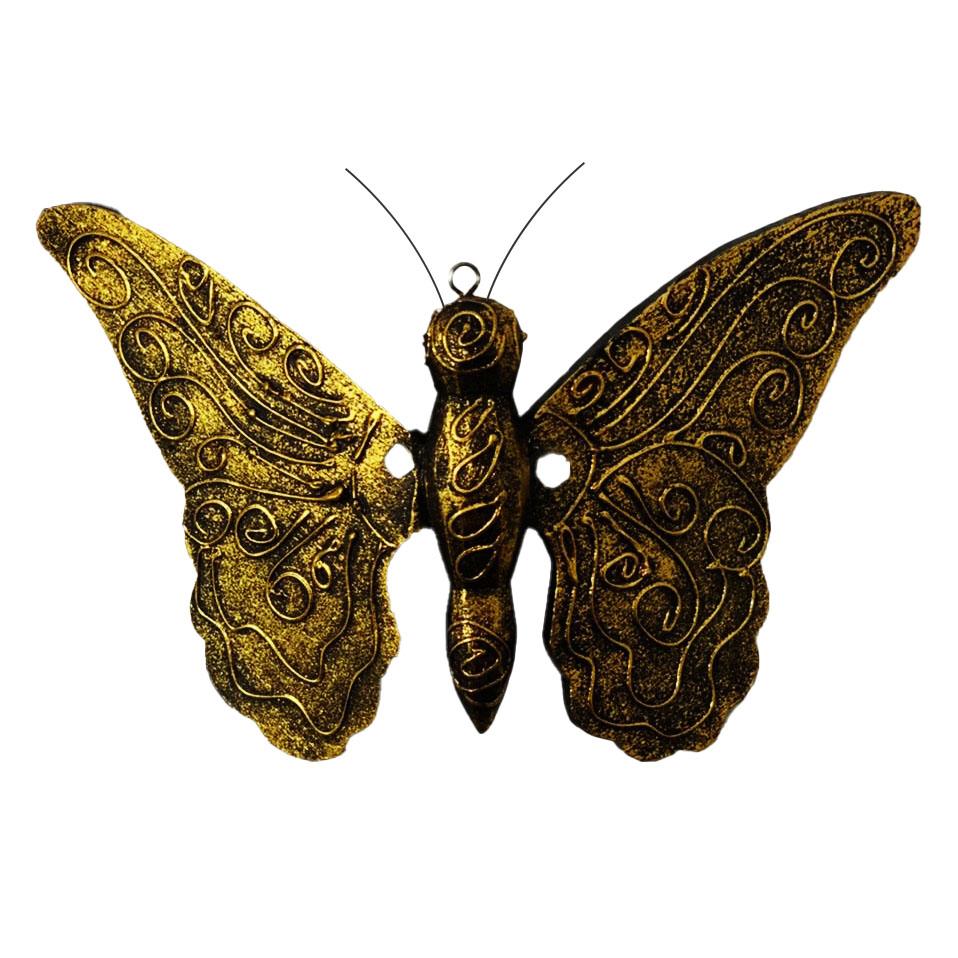 Borboleta p/ Parede - Dourado ( 23cm )