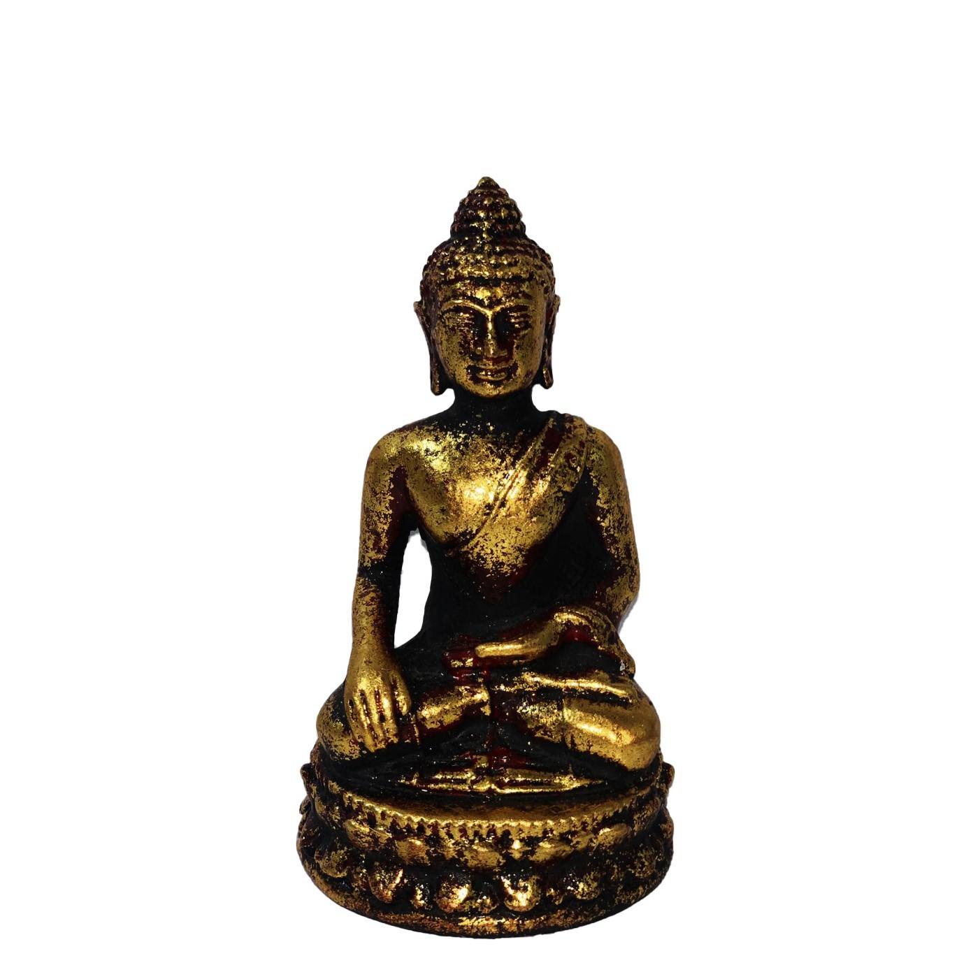 Buda Sidartha em Resina Dourada ( 11cm )
