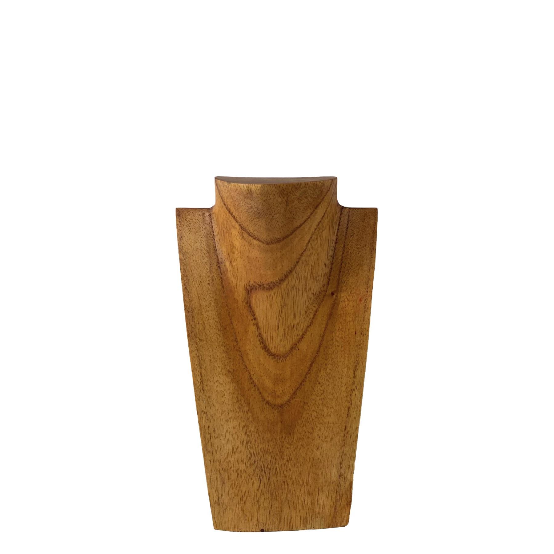 Busto Porta Colar em Madeira ( 25cm )