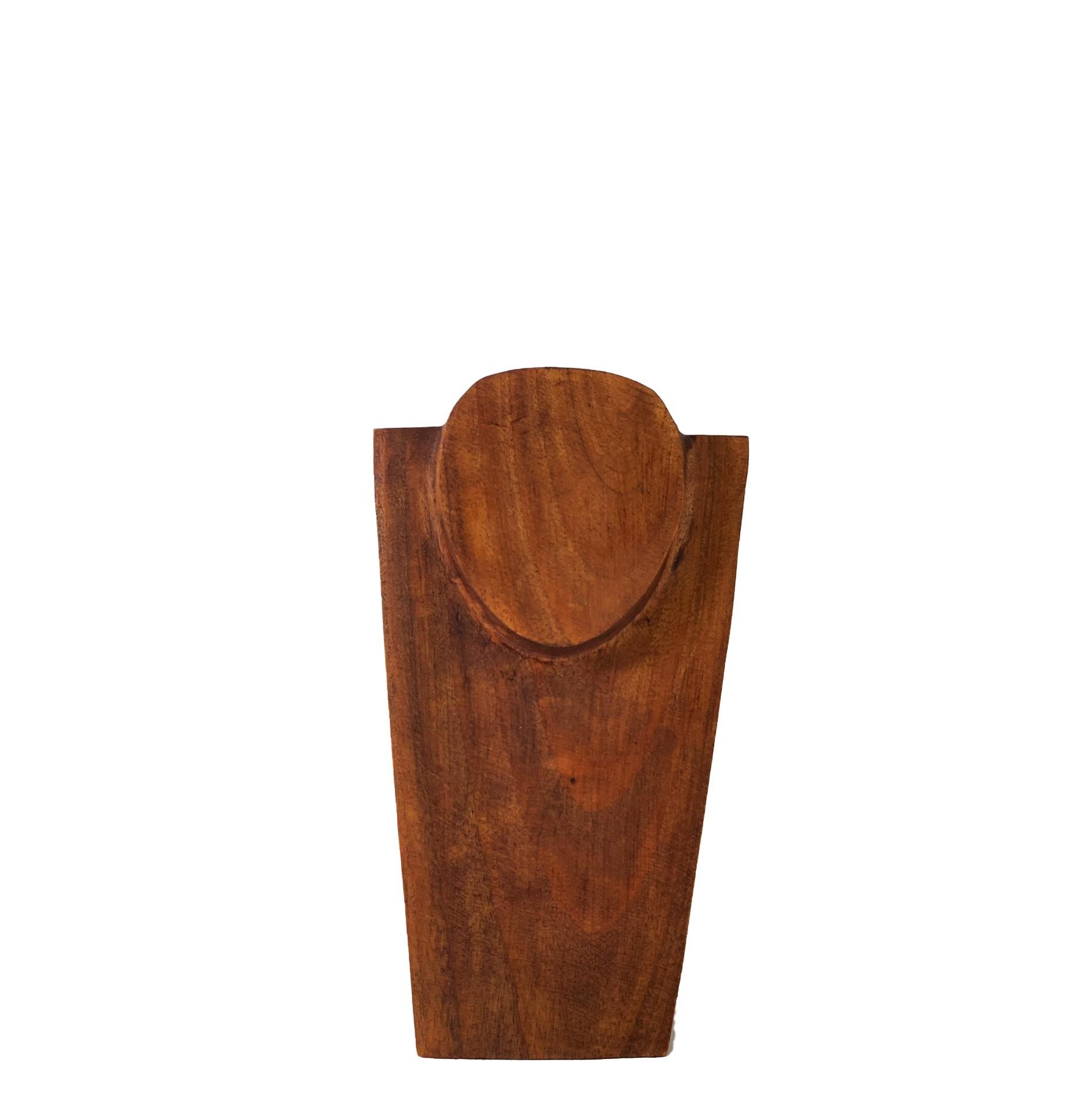 Busto Porta Colar em Madeira Escura ( 25cm )
