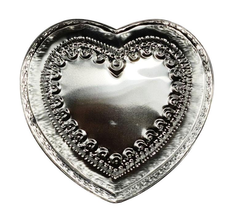 Caixa em Formato de Coração c/ Detalhes em Alto-Relevo ( 19cm )