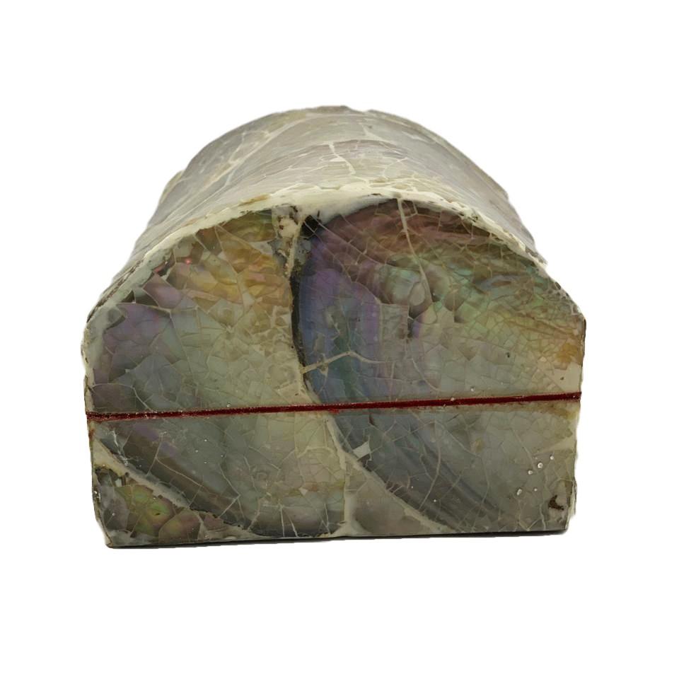 Caixa / Baú em MDF revestida com Madrepérola ( 7x10x14cm )