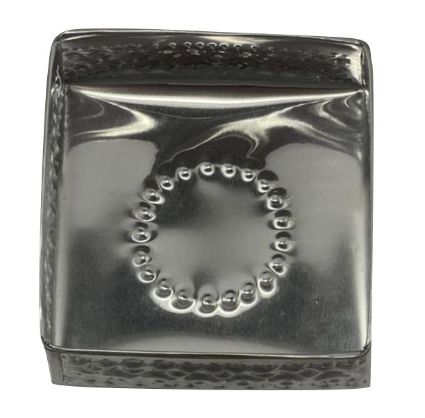 Caixa Quadrada em Alumínio c/ Detalhes em Alto-Relevo ( 10cm )