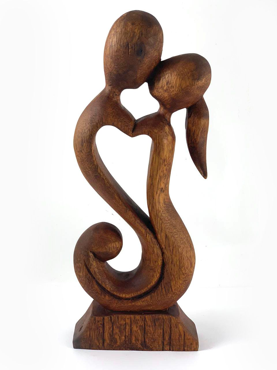 Escultura Abstrata Casal em formato Coração ( 30 cm )