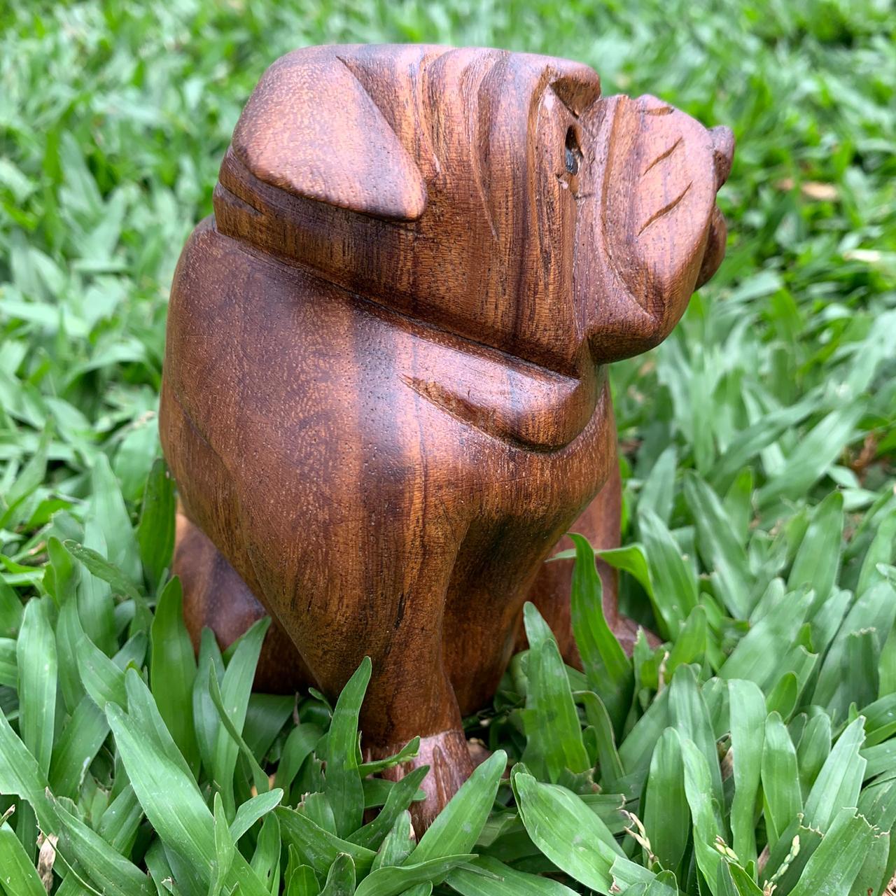 Escultura Buldogue Sentado ( 13 cm )