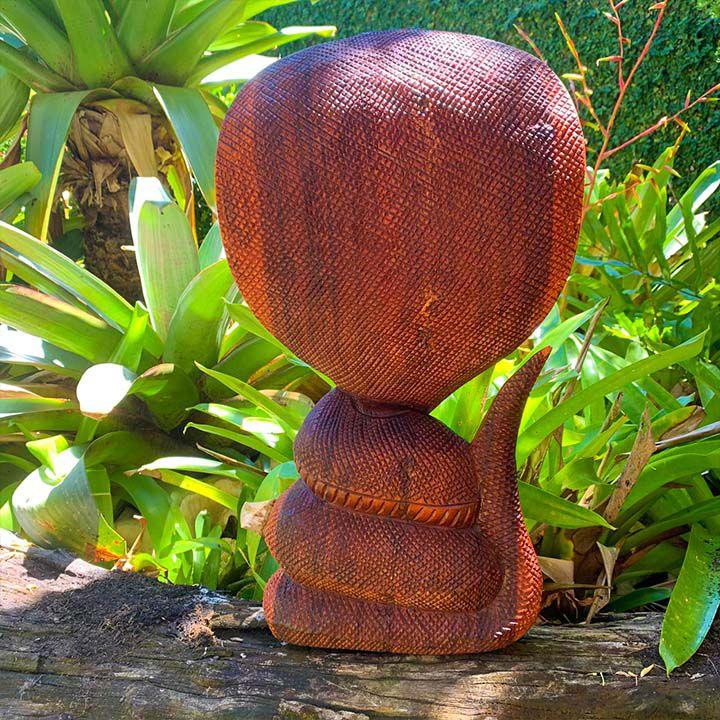 Escultura Cobras em Madeira Suar (17/20/40 e 50cm)