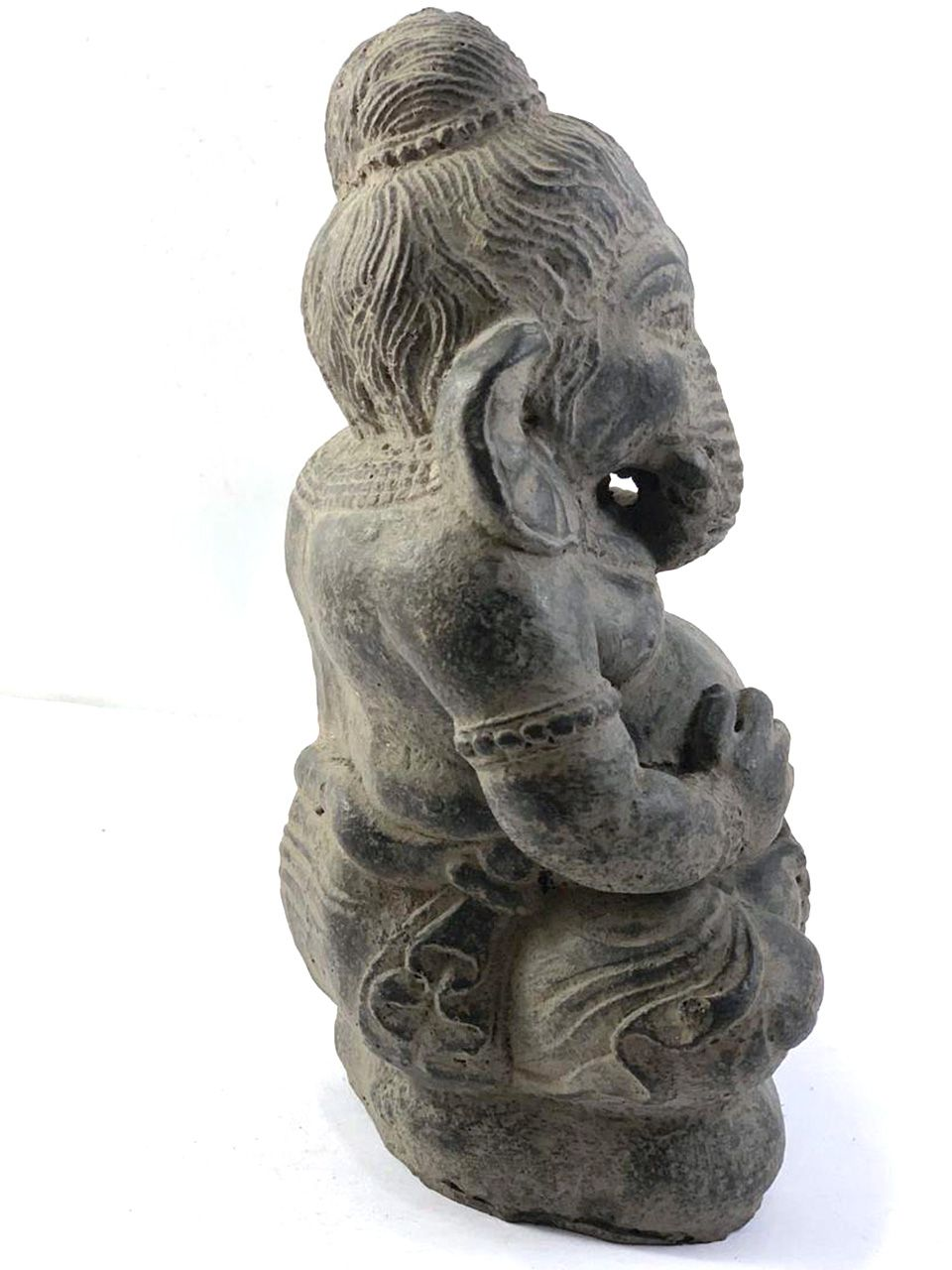 Ganesha (Sentado) em Resina - 20cm - Preto