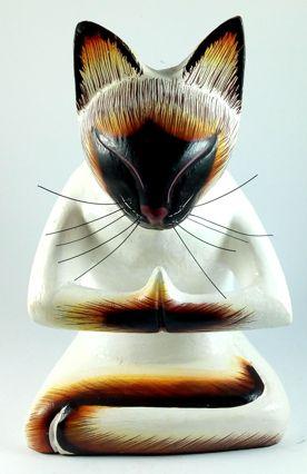 Esculturas Gatos Ioga - Diversas Poses ( 20cm )