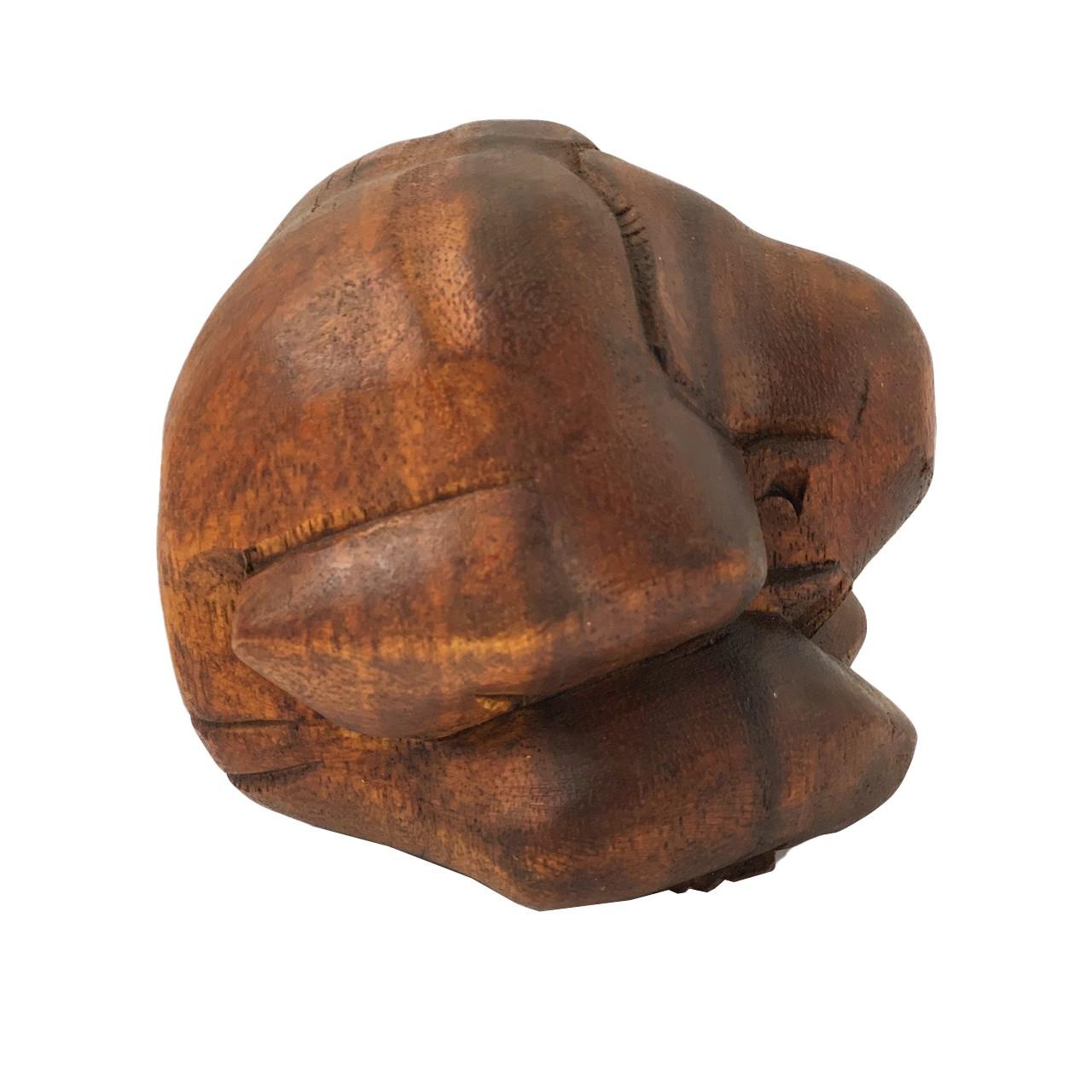 Esculturas Monge Yogi Encolhido ( 12 cm )