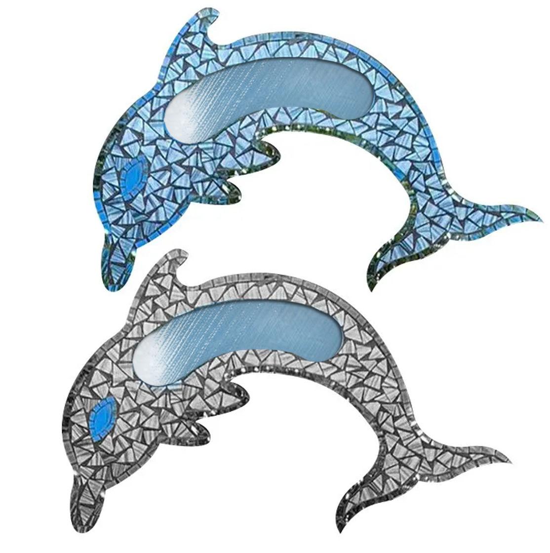 Espelho em Mosaico - Golfinho ( 2 Opções )