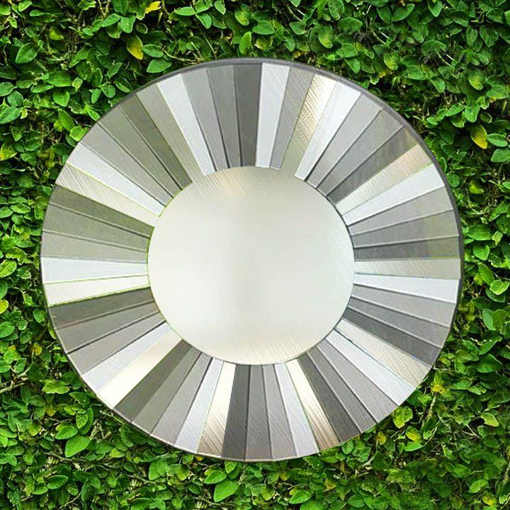 Espelho em Mosaico - Moldura em Degradê Tons de Cinza e Espelho [20/30/40]