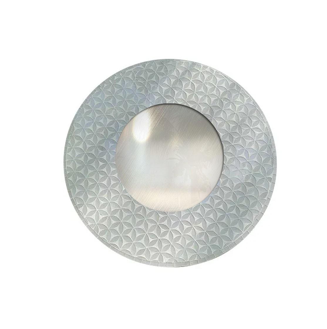 Espelho em Mosaico - Moldura em MDF com Mosaicos de Flores (Branco) [80 cm]