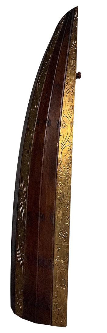 [FRETE INCLUSO] Adega modelo Canoa em Madeira Albésia ( 30x45x145cm )